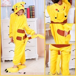 OISK 2015 Pokemon Pikachu Skull Tiger Panda men Kids Fancy Dress Costume Pajamas Animal Onsie Cospla