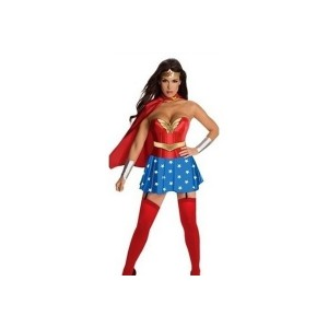 Sexy Adult Cheap Super Hero Wonder Woman Costume Fancy Party Dress Halloween (Size: M, Color: Red)