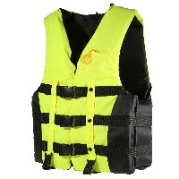Adult Swimming Boating Drifting Safety Life Jacket Vest with Whistle L-2XL