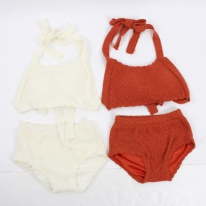- Halter Knit Bikini - Swimwear Fashion Summer Look Beach Look