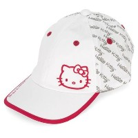 Hello Kitty Sports Womens Premier Collection Script Hat  White/Magenta  Medium