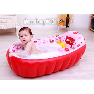 Large baby bath children baby baby newborn inflatable thickening thick cold large bath