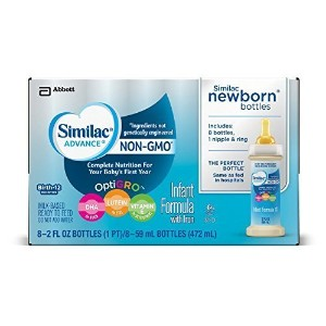 Similac Advance Newborn Infant Formula with Iron  Stage 1 Ready-to-Feed bottles  2 fl oz  8 count ...