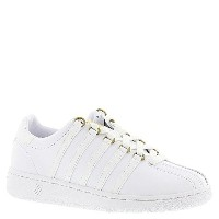 K-SWISS Womens Classic VN 50th Athletic Shoe  White/Gold  7 M US