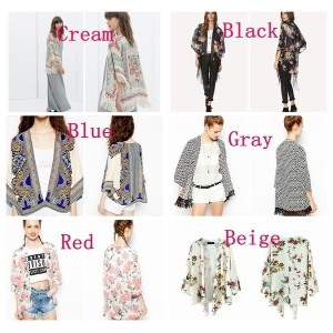 Vintage Ethnic Floral Tassels Loose Kimono Cardigan Blouse Jacket  NEW Fashion Tops Cape