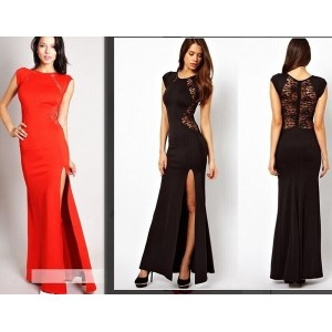 Women Slim Long lace Gown Evening Cocktail Casual Party Long Dress