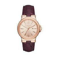 マイケルコース Michael Kors レディース 腕時計 時計 Michael Kors Rose Gold-Tone Burgundy Women's Watch