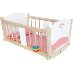 Hape Babydoll Wooden Rock-a-Bye Cradle with Accessories