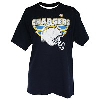 NFLメンズヘルメットロゴTシャツby g-iii、San Diego Chargers、Xラージ