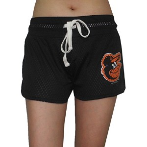 Womens Bal Orioles Dri - FitメッシュRunning / Athletic Shorts L ブラック
