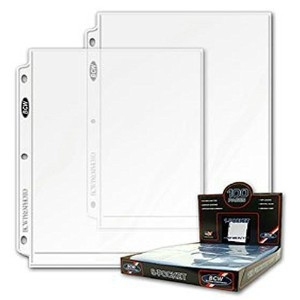 50 (Fifty Pages) - BCW Pro 8 X 10 Photo Page (1 Pocket Page)