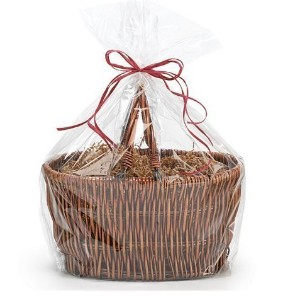 Bundleofbeauty - 10pack Extra Large Super Jumbo Clear Cello/cellophane Bags Gift Basket Packaging...