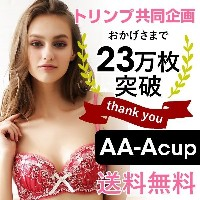 26%OFF【送料無料】 【トリンプ共同企画】キューティハート&リボン通しブラセット AA A(05S272592AAA)