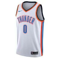 Russell Westbrook Oklahoma City Thunder Nike NBA Swingman Basketball Jersey メンズ White NBA ナイキ バスパン...