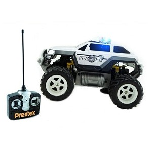 Prextex Remote Control Monster Police Truck Radio Control Police Car toys for boys Rc Car with Lights Best Christmas gift for 8-12 year old boys [並行輸入品]