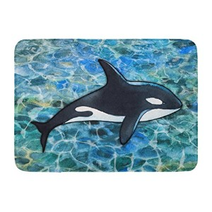 Caroline 's Treasures bb5348rug Killer Whale Orcaフロアマット、19 H x 27 Wインチ、マルチカラー