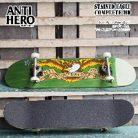 ANTIHERO(アンタイヒーロー) STAINED EAGLE COMPLETE LG Green/White Wheel 8.0 x 32 コンプリート SK8 アンチヒーロー