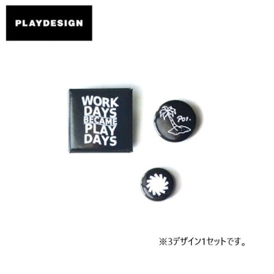 PLAYDESIGN プレイデザイン 缶バッジ P01 PLAY BUTTON BADGES P01-AC17S01 【雑貨】