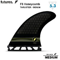 【FUTURES FIN】RTM HEX F6 HONEYCOMB フューチャーフィンFUTURE FIN F6 MIDIUM トライフィン