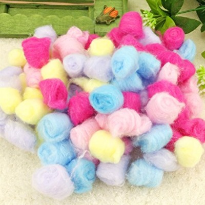 Zhhlinyuan Long-Staple 綿の球 200/500Grams フィラー Cotton Ball For Small Annimals Hamster Cotton Ball For...