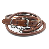 Zhhlinyuan Pet トラクションロープ PU Leather Dog Rope And Collar Set Walking Training Pet 耐久性のある襟 For Dogs