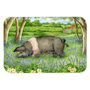 Caroline's Treasures CDCO0377LCB 'Pig In Bluebells by Debbie Cook' Glass Cutting Board, Large,...