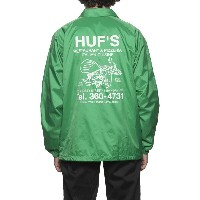 HUF Hufs Pizza Coaches Jacket Green S コーチジャケット