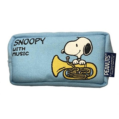 SNOOPY with Music スヌーピー マウスピースポーチ 限定品《ライトブルー》 (ユーフォニアム)