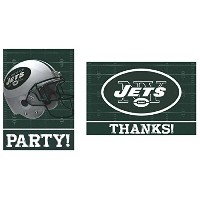 Amscan New York Jets NFL Football Party Invitations & Thank You Cards (16 Piece), Green/White, 7.5...