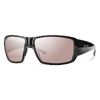 SMITH GCGPPIGBLK Men's Black Frame Pink Lens Wrap Polarized Sunglasses