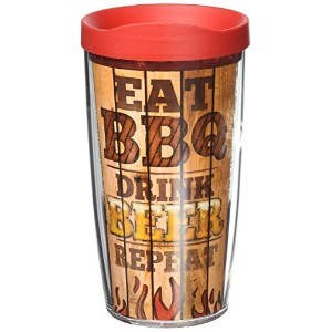 Tervis 1217063BBQ Eat DrinkラップTumbler withレッド蓋、16オンス