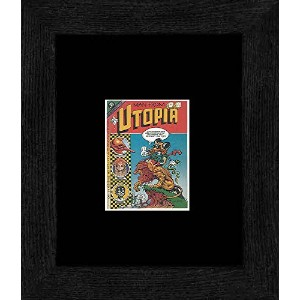 Man From Utopia - Comic Book Art By Rick Griffin 1970 Framed Mini Poster - 20x18cm