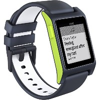 Pebble 2 + Heart Rate HR Smart Watch Charcoal Lime ぺブル 心拍計 スマートウォッチ チャコール ライム [並行輸入品]