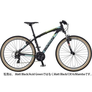 【送料無料】【代引不可】18ビアンキ KUMA 27.4 SHIMANO 3×7SP V-BRAKE Matt Black/Acid Green