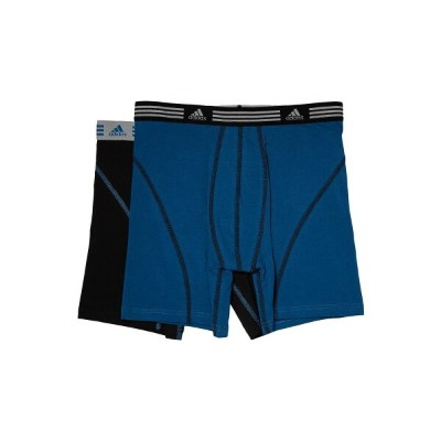 アディダス メンズ インナー・下着 ボクサーパンツ【Athletic Stretch 2-Pack Boxer Brief】Black/Core Blue/Core Blue/Black