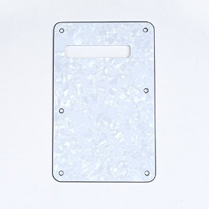 Musiclily Backplate バックプレートST用, パール 白 4ply