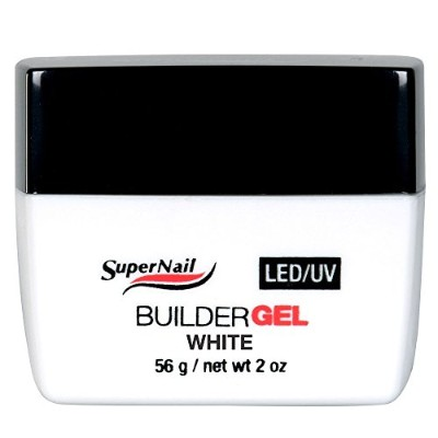 SuperNail LED/UV Builder Gels - White - 2oz / 56g