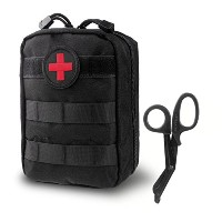 GES Tactical Molle EMT医療ポーチFirst Aid IFAKユーティリティバッグwith First Aidパッチ