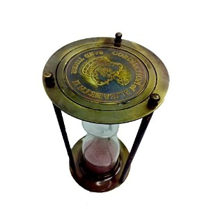 Handicraft Brass And Glass Sand Timer by Bharat Haat BH00194