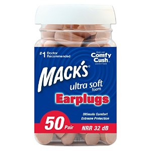 Mack's Ear Care Ultra Soft Foam Earplugs, 50 Pair by Mack's Ear Care