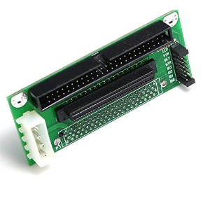 SCSI SCA 80-Pin To SCSI 68-Pin/IDC 50-Pin Adapter SCSI 80-68-50 CARD [並行輸入品]