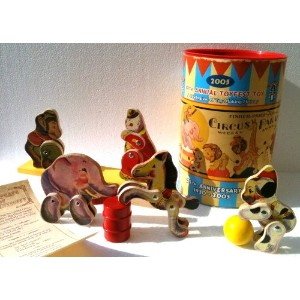 FISHER PRICE Wooden Toys BIG PERFORMING CIRCUS PARADE from 2005 Toyfest LIMITED EDITION Collectible...