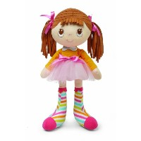 Socks Rock Doll, Brunette Hair by Kids Preferred
