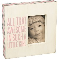 Primitives By Kathy All That Awesome Box Frame in Pink, 10 X 10 by Primitives By Kathy