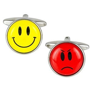 Happy and Sad Face Cufflinks