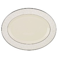 LenoxパールInnocence platinum-banded Fine China 5-piece Place Setting Oval Platter, 13-in 6134381