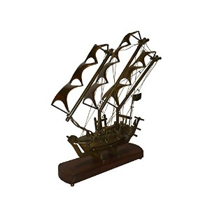 Vintage Nautical Brass Boat (Model) With Wooden Stand vintage by Bharat Haat BH00200