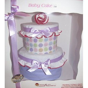 Create-A-Gift Simply Sweet Baby Cake, Pink/Purple by Create-A-Gift