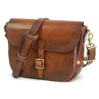 VASCO POSTMAN MINI SHOULDER BAG CAMEL LEATHER
