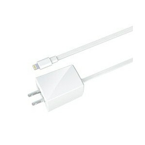 ラディウス iPad / iPad mini / iPhone / iPod対応[Lightning] AC充電器 2.4A (1m・ホワイト) MFi認証 PA-ADF52W[PAADF52W]